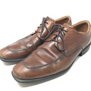 Ecco Helsinki Lace Up Derby Dress Shoes 45 Brown
